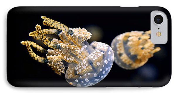 The Spotted Jelly Or Lagoon Jelly Mastigias Papua Phone Case by Jamie Pham