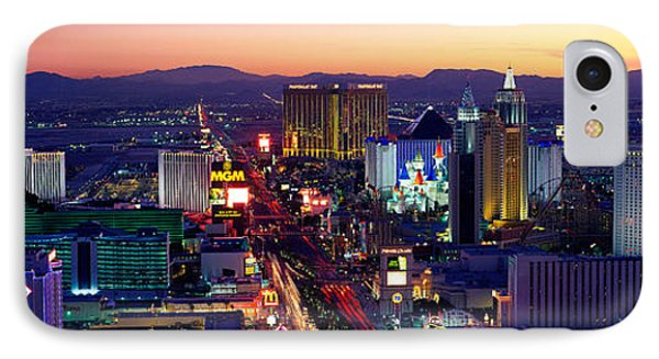 The Strip, Las Vegas, Nevada, Usa IPhone Case by Panoramic Images