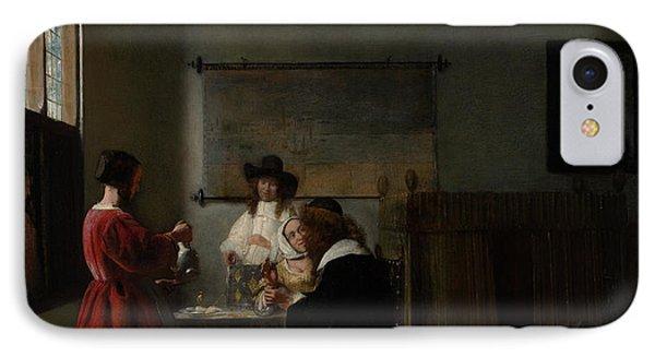 The Visit IPhone Case by Pieter de Hooch