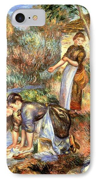 The Washerwoman IPhone Case by Pierre Auguste Renoir