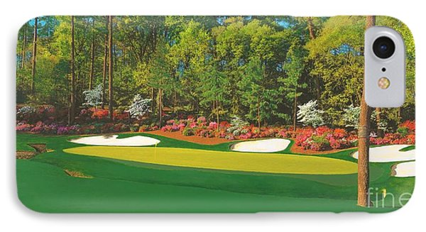 Thirteenth At Augusta Phone Case by L J Oakes
