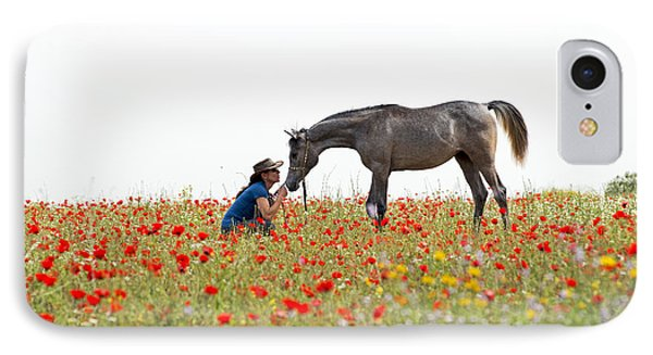 Three At The Poppies' Field... 4 IPhone 7 Case by Dubi Roman