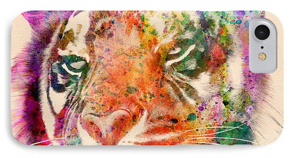 Tiger Portrait  IPhone Case by Mark Ashkenazi