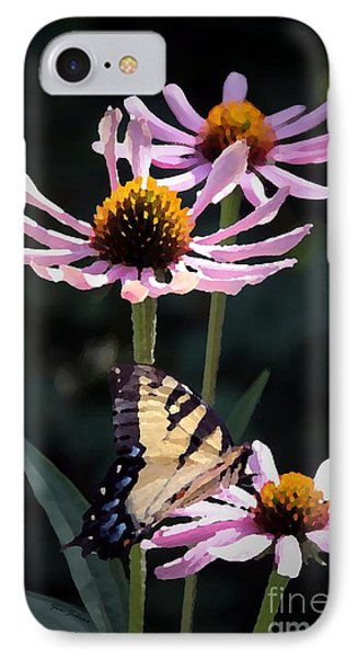 IPhone Case featuring the photograph Tiger Swallowtail by Yumi Johnson