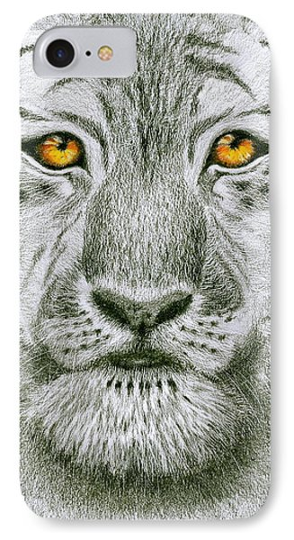Tiger Tiger Burning Bright IPhone Case by Jo Appleby