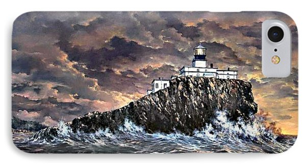 IPhone Case featuring the painting Tillamook Rock Light by Lynne Wright