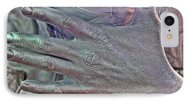 IPhone Case featuring the photograph Tin Man Hand by Lilliana Mendez