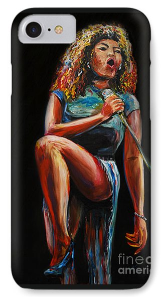 IPhone Case featuring the painting Tina Turner by Nancy Bradley