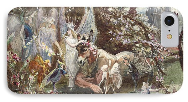 Titania And Bottom IPhone Case by John Anster Fitzgerald