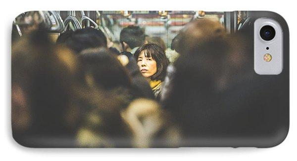 Tokyo Japan Train Woman IPhone Case by Cory Dewald
