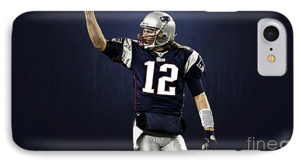 Tom Brady IPhone Case by Marvin Blaine