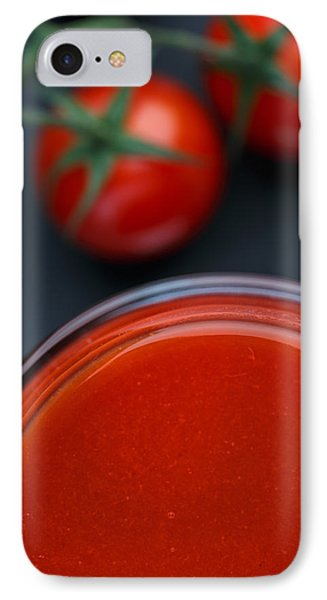 Tomato iPhone 7 Case - Tomato Juice by Nailia Schwarz