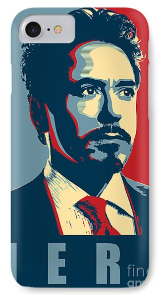 Ant iPhone 7 Case - Tony Stark by Fine Artist