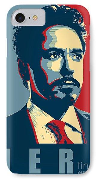 Tony Stark IPhone Case by Caio Caldas