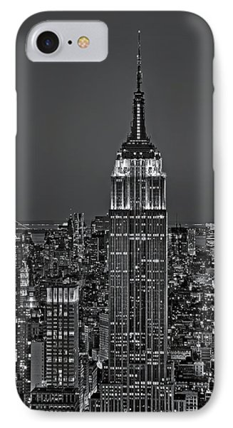 Top Of The Rock Bw Phone Case by Susan Candelario