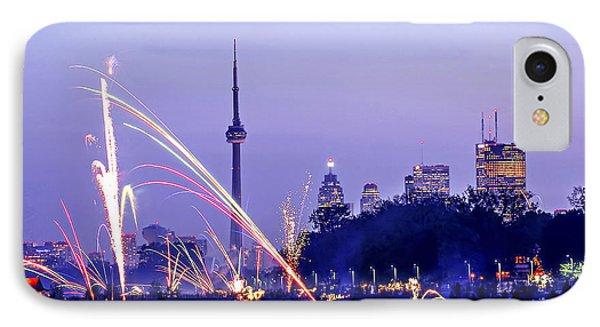Toronto Fireworks IPhone Case by Elena Elisseeva