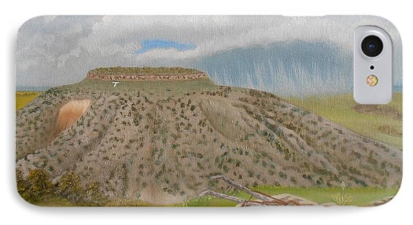 IPhone Case featuring the painting Tucumcari Mountain Reflections On Route 66 by Sheri Keith