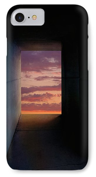 Tunnel With Light IPhone Case by Melinda Fawver