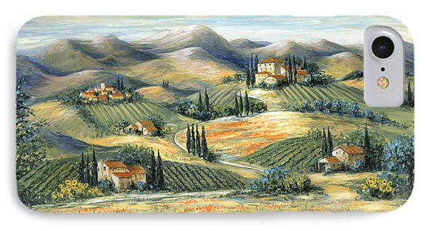 Tuscan Villa And Poppies IPhone Case by Marilyn Dunlap