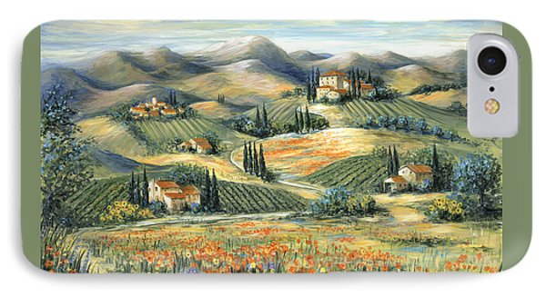 Tuscan Villa And Poppies Phone Case by Marilyn Dunlap