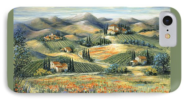 Tuscan Villa And Poppies IPhone Case