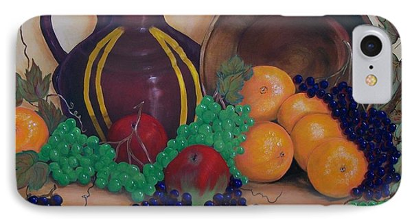 IPhone Case featuring the painting Tuscany Treats by Sharon Duguay