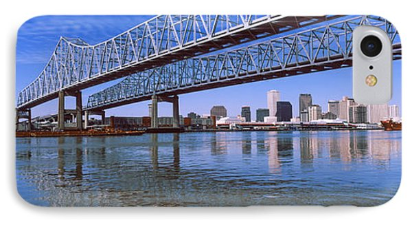 Twins Bridge Over A River, Crescent IPhone Case by Panoramic Images
