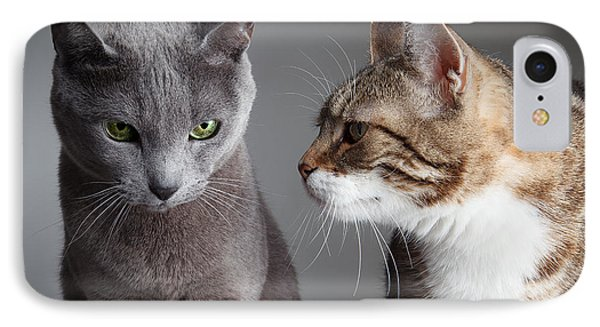 Two Cats IPhone Case by Nailia Schwarz