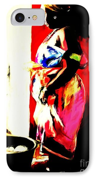 IPhone Case featuring the painting Ugunda Fish Lady by Vannetta Ferguson