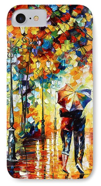 Under One Umbrella IPhone Case by Leonid Afremov