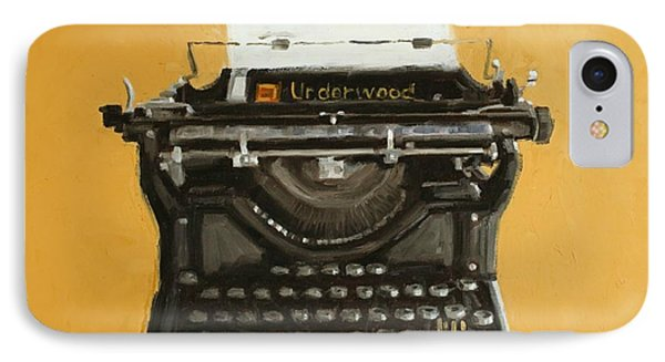 Underwood Typewriter Phone Case by Patricia Cotterill