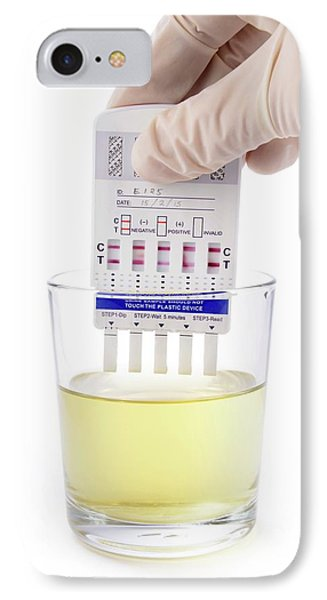 Urine Drug Test IPhone Case by Cordelia Molloy