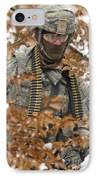 U.s. Army Soldier Conducts A Dismounted Phone Case by Stocktrek Images