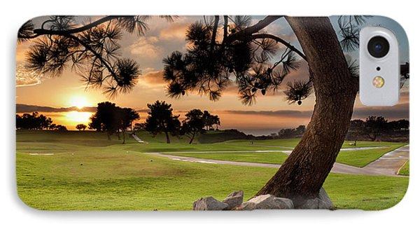 Usa, California, La Jolla, Sunset IPhone Case