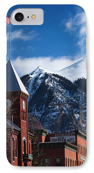 Usa, Colorado, Telluride, Main Street IPhone Case