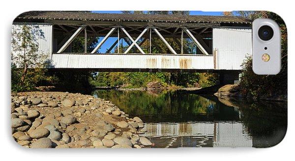 Usa, Oregon, Scio, The Larwood Bridge IPhone Case by Rick A Brown