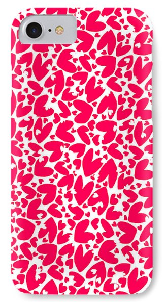 Valentines Day Card Phone Case by Louisa Knight
