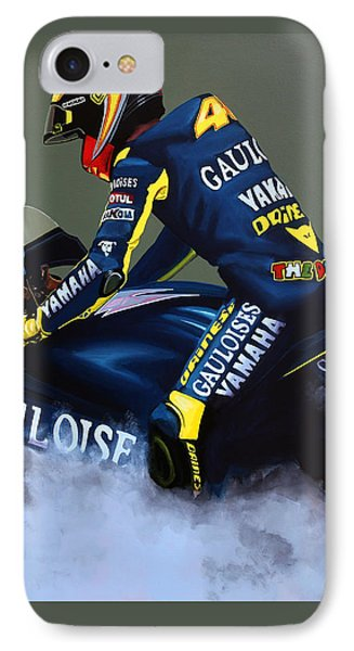 Motorcycle iPhone 7 Case - Valentino Rossi by Paul Meijering