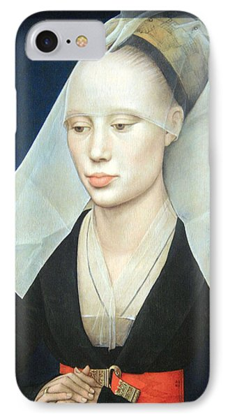IPhone Case featuring the photograph Van Der Weyden's Portrait Of A Lady by Cora Wandel