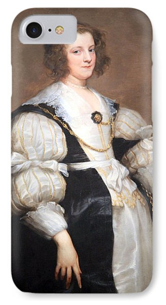 Van Dyck's Lady With A Fan IPhone Case by Cora Wandel
