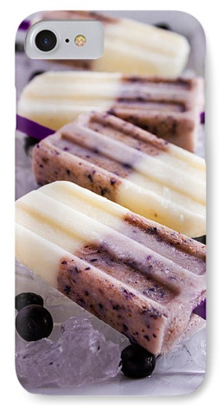 Vanilla And Blueberry Popsicles IPhone Case