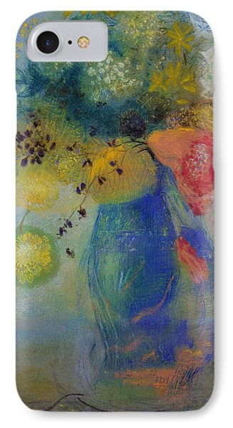Vase Of Flowers IPhone Case by Odilon Redon