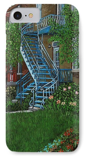 Verdun Stairs IPhone Case by Reb Frost