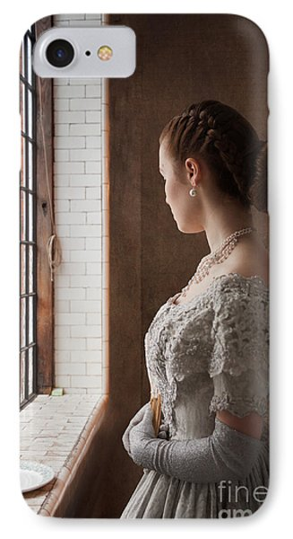 Victorian Woman At A Window IPhone Case
