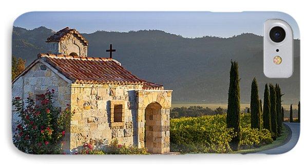 Vineyard Prayer Chapel Phone Case by Brian Jannsen