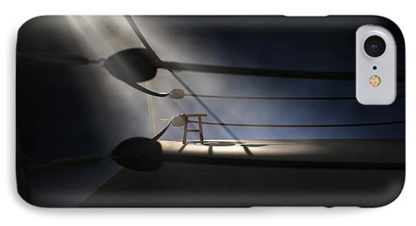 Vintage Boxing Corner And Stool IPhone Case by Allan Swart