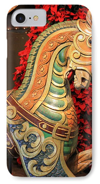 Vintage Carousel Horse Phone Case by Suzanne Gaff