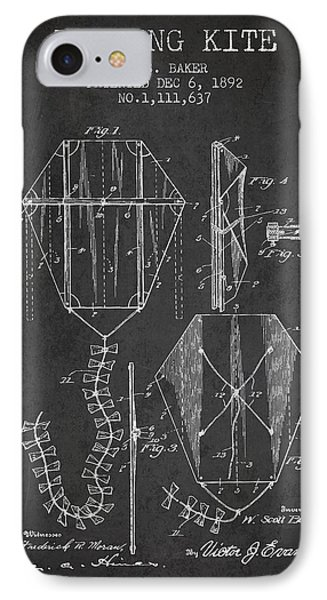 Vintage Folding Kite Patent From 1892 IPhone Case by Aged Pixel
