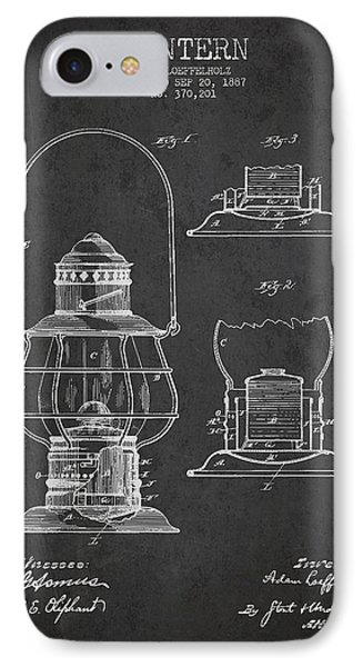 Vintage Lantern Patent Drawing From 1887 IPhone Case