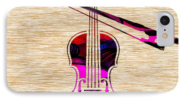Violin And Bow IPhone Case by Marvin Blaine